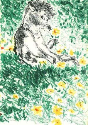 Ferdinando prefiere estar tranquilamente sentado y oler las flores