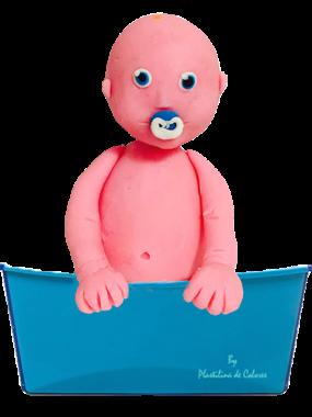 bebe bañera plastilina 2